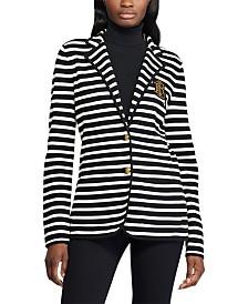 Lauren Ralph Lauren Stripe-Print Sweater-Knit Blazer