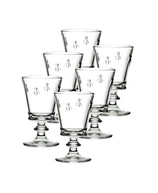 Glassware, Set of 6 Napoleonic Bee Water Glasses