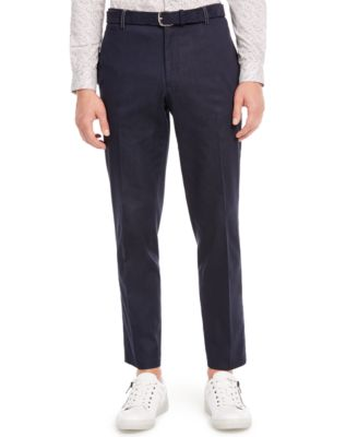 INC Men's Slim-Fit Contrast Stitch Pants, Created for Macy's