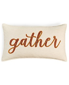 "Martha Stewart Collection Gather 14"" x 24"" Decorative Pillow, Created for Macy's"