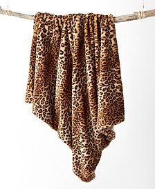 Martha Stewart Collection Animal Print Faux Fur Throw, Created for Macy's