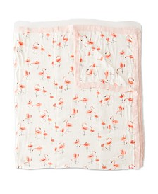 Little Unicorn Pink Ladies Deluxe Muslin Big Kid Quilt