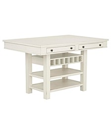 Chesapeake Bay Counter Height Storage Table
