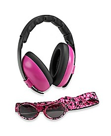 Baby Girls Earmuff and Sunglasses Combos