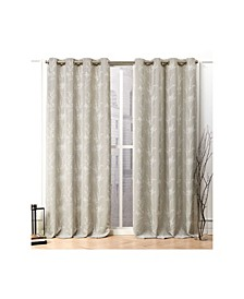 Turion Floral Blackout Grommet Top Curtain Panel Pair