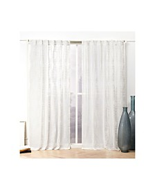 Nicole Miller Odense Sheer Abstract Hidden Tab Top Curtain Panel Pair