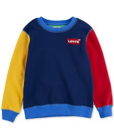 Levi's® x Crayola Collection Little Boys Colorblocked Fleece Sweatshirt