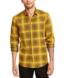 Alfani Men's Plaid Shirt, Created for Macy's