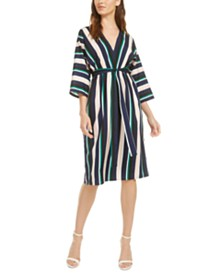 French Connection Striped V-Neck Dress