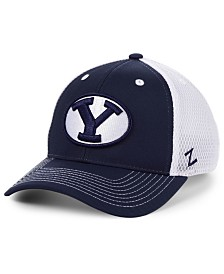 Zephyr Brigham Young Cougars Honeycomb Flex Stretch Fitted Cap