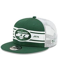 New Era New York Jets Classic 77 Stripe Mesh 9FIFTY Cap
