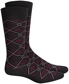 Ornate Argyle Socks, Created for Macy's