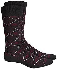 Alfani Ornate Argyle Socks, Created for Macy's