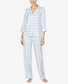 Woven Plaid Pajamas Set