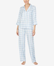 Lauren Ralph Lauren Woven Plaid Pajamas Set