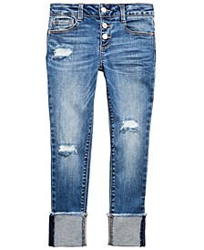Big Girls Ripped Cuffed Jeans