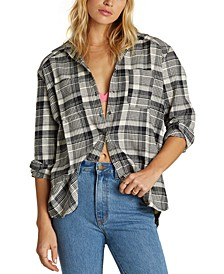 Juniors' East Light Plaid Shirt