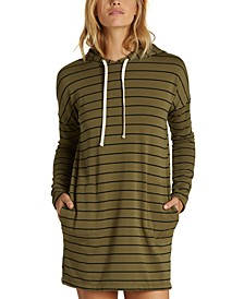 Juniors' So Easy Hooded Sweatshirt Dress