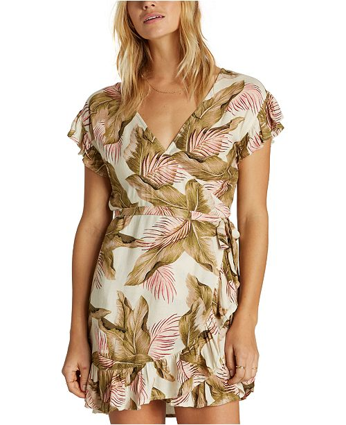 Billabong Juniors' Ruffled Wrap Dress