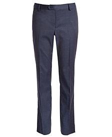DKNY Big Boys Classic-Fit Stretch Navy Blue Neat Suit Pants