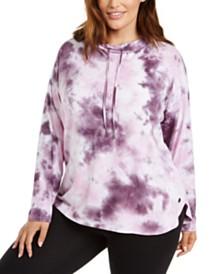 Calvin Klein Plus Size Tie-Dyed Sweatshirt