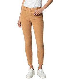 Charlie Corduroy Raw-Hem Ankle Jeans
