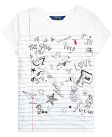 Polo Ralph Lauren Big Girls Jersey Cotton T-Shirt