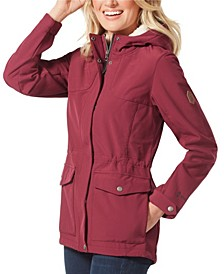Super Soft Shell Adjustable Waist Drawstring with Sherpa Lining in Hood Jacket
