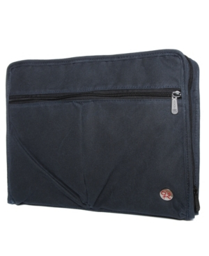 Take the waxed woodlawn portfolio along with you to the office and on your business trips. The several storage spaces will keep you organized and the open back pocket unzips so you can attach it to your rolling luggage.