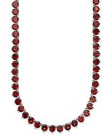 Garnet Necklace (47 ct. t.w.) in Sterling Silver (Also Available in Peridot, Amethyst, Blue topaz & Multi-Stone)