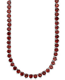 Sterling Silver Necklace, Garnet Continuous Necklace (47 ct. t.w.)
