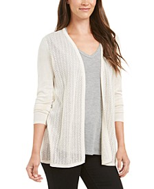 Chevron Pointelle Cardigan, Created for Macy's