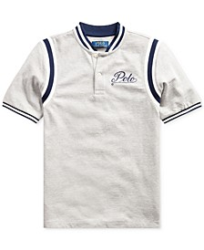 Big Boys Mesh Knit Polo Shirt