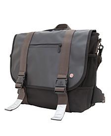Lorimer Matte Vinyl Medium Messenger Bag