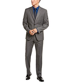 Alfani Men's Red Slim-Fit Performance Stretch Stripe Suit Separates, Created for Macy's