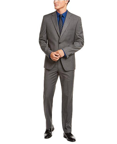 Alfani Alfani Men's Red Slim-Fit Performance Stretch Stripe Suit Separates, Created for Macy's