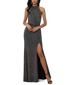 XSCAPE Metallic Gown