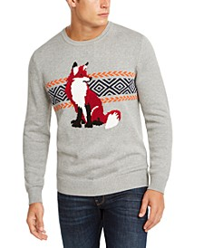 Men's Fox Graphic Crewneck Sweater, Created for Macy's