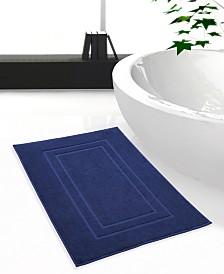 Feather Stitch 2-Piece Cotton Bath Mat Set