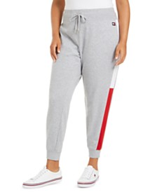 Tommy Hilfiger Sport Plus Size Varsity-Panel Sweatpants