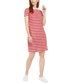 Maison Jules Collared Striped Dress, Created for Macy's
