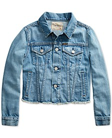 Big Girls Denim Polo Jacket