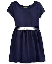 Polo Ralph Lauren Little Girls Ponte Roma Bow Dress