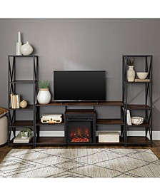 3 Piece Fireplace TV Stand Set