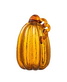 Glitzhome Crackle Tall Glass Pumpkin