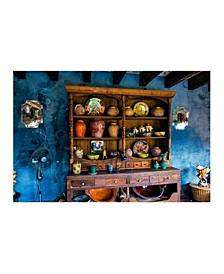 """- Blue Wall Old Buffet Canvas Art, 54"""" x 36"""""""