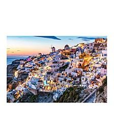 "Collection - Sunset Santorini Canvas Art, 27"" x 36"""