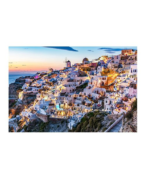 "CHRISTOPHER KNIGHT COLLECTION - Sunset Santorini Canvas Art, 27"" x 36"""