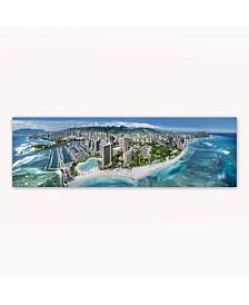 """Christopher Knight Collection - Waikiki Wonderland Canvas Art, 18"""" x 58"""""""