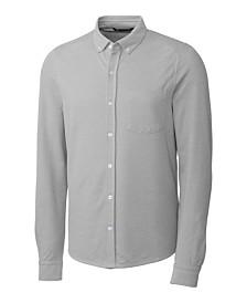 Cutter & Buck Men's Big & Tall Reach Oxford Button Front Long Sleeves Shirt
